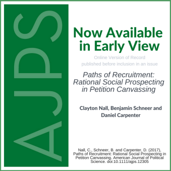 Paths of Recruitment: Rational Social Prospecting in Petition Canvassing