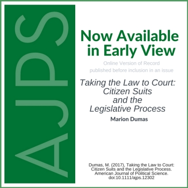 AJPS Blog - Citizen Suits and the Legislative Process