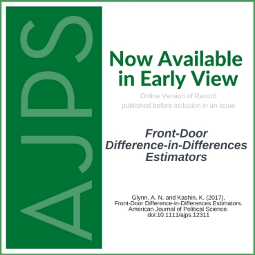 AJPS Author Summary: Front-Door Difference-in-Differences Estimators