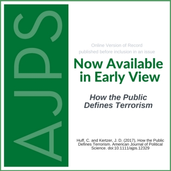 AJPS Early View - How the Public Defines Terrorism