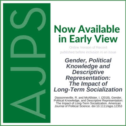 AJPS-Author Blog Post - Gender, Political Knowledge, and Descriptive Representation - Dassonneville - McAllister
