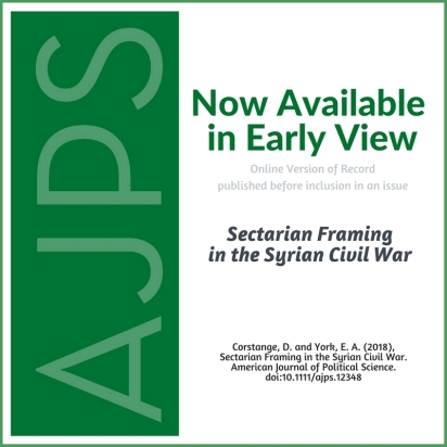 AJPS-AuthorSummary-Sectarian Framing in the Syrian Civil War