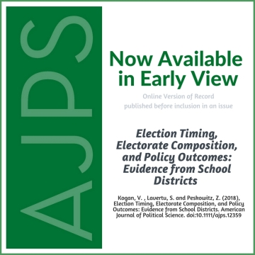 AJPS-Author Summary-Election Timing Electorate Composition Policy Outcomes