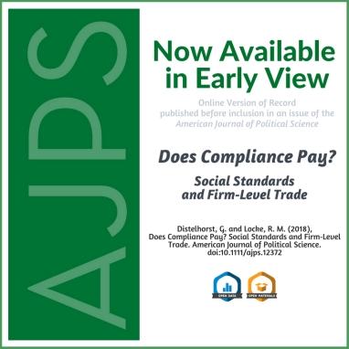 AJPS Author Summary - Does Compliance Pay?
