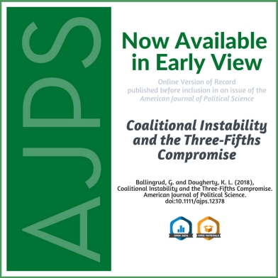 AJPS Author Summary - Coalitional Instability and the Three‐Fifths Compromise